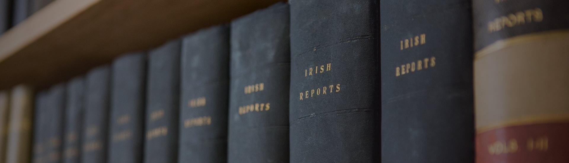 Row of Books on Irish Business Law